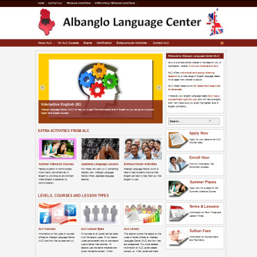 Albanglo Language Center website
