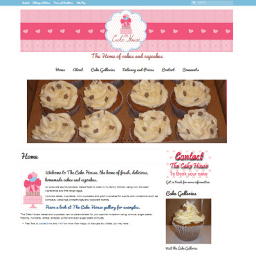 The Cake House website