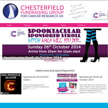 Chesterfield CRUK website
